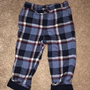 Janie and Jack soft lined blue plaid pants 18-24
